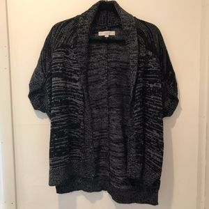 Loft Short Sleeve Open Front Cardigan
